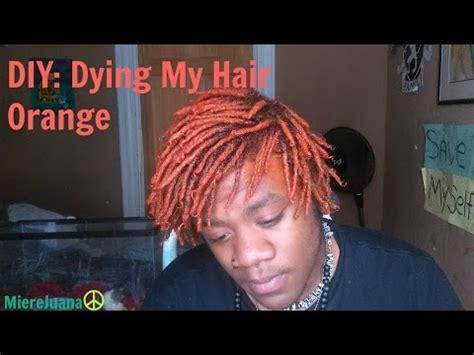 black guys dreaded dyed tips diy dying my hair orange dreadlocks mierejuana youtube