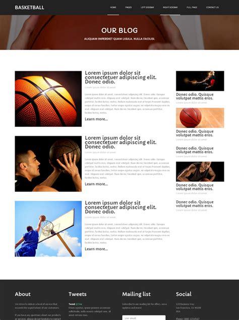 Basketball Culture Website Template Basketball Sports Dreamtemplate Basketball Team Website Template
