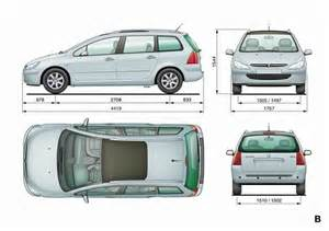 Peugeot 307 Dimensions