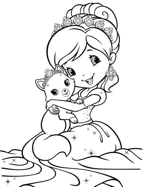 strawberry shortcake coloring pages princess strawberry shortcake coloring pages bestofcoloring com