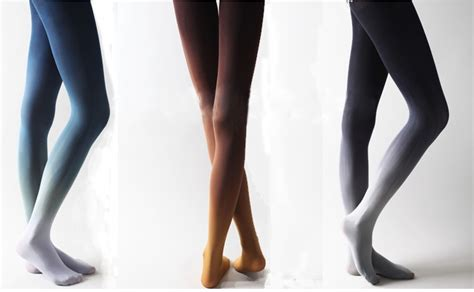 Gradient Tights gradient color velvet tights purple fashion