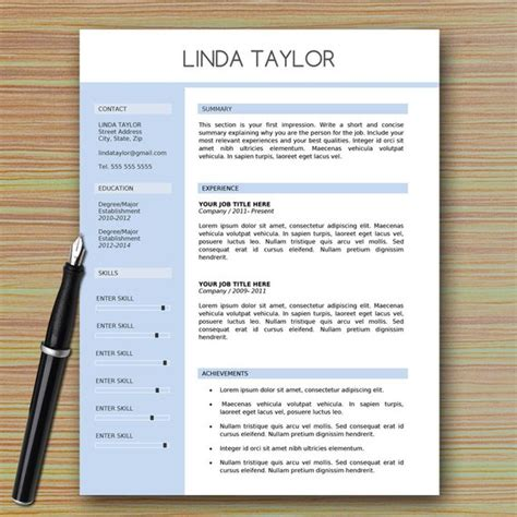 Professional Modern Resume Template For Microsoft Word Modern Professional Cv Template Word