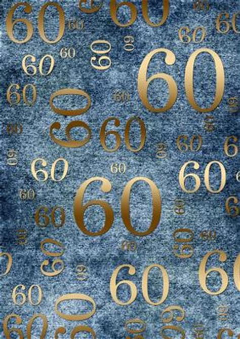 backdrop design for 60th birthday deep blue and gold 60th birthday a4 backing paper