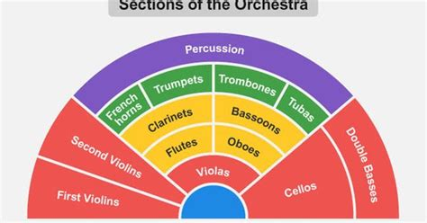 four sections of an orchestra sections of the orchestra this layout relates to the way