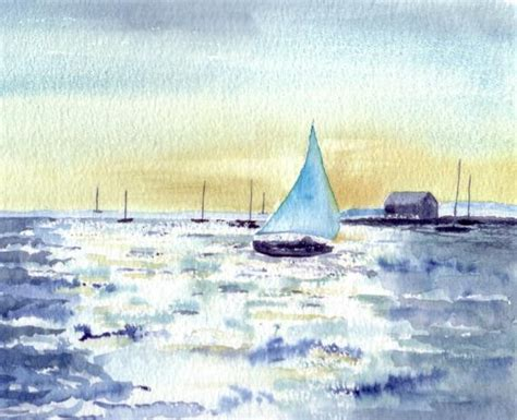 boat us visa card sail boat cards seascape watercolor cards for him 4