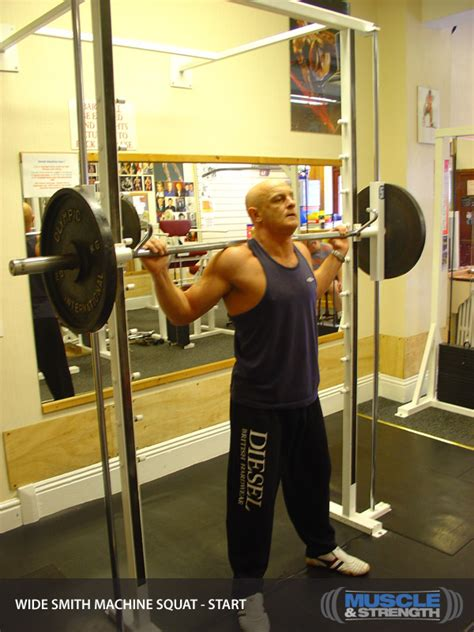 high school bench press average wide smith machine squat video exercise guide tips