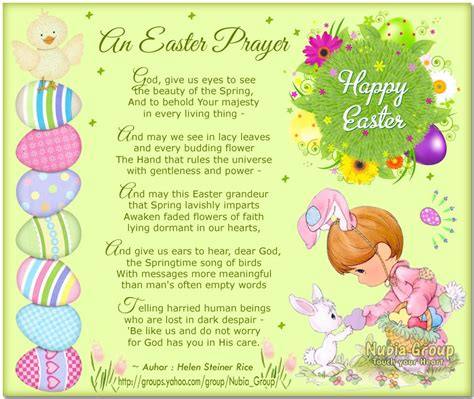 printable easter quotes easter poems and prayers the nubia group morning cards