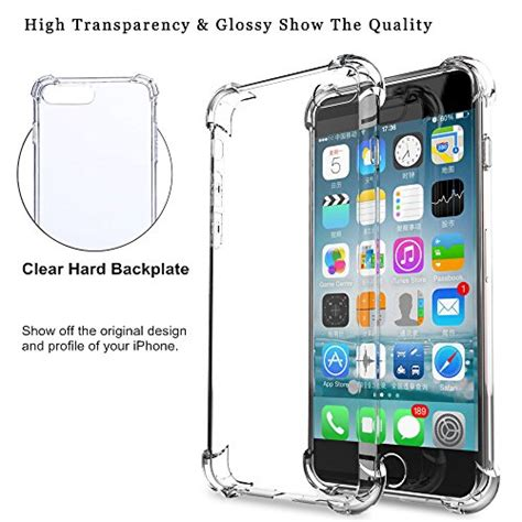 Armor Bumper Soft Gel Polycarbonate Cover Casing Iphone Se 5 5s iphone 7 amuoc clear cover shock absorption with transparent plastic
