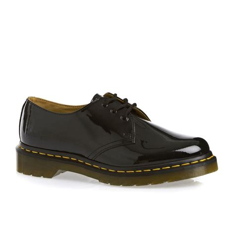 dr martens 1461 patent ler shoes black free uk