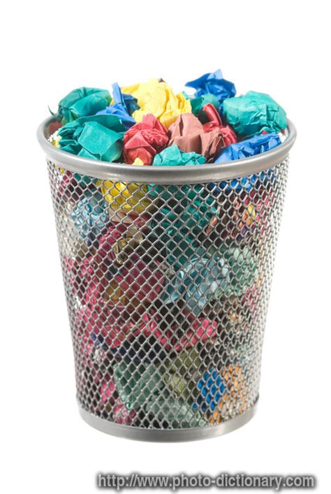 waste paper baslet waste paper basket photo picture definition at photo