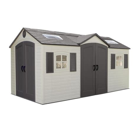 Shed Installed by Lifetime Installed 15 Ft X 8 Ft Door Storage