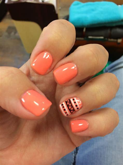 Shellac Pattern Nails | aztech nails nail art nail design manicure shellac