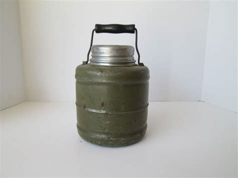 glass jug l base old military canteen thermos jug glass jar insert bottle