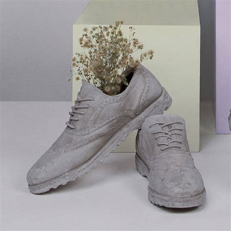 cement shoes concrete shoes by out there interiors notonthehighstreet