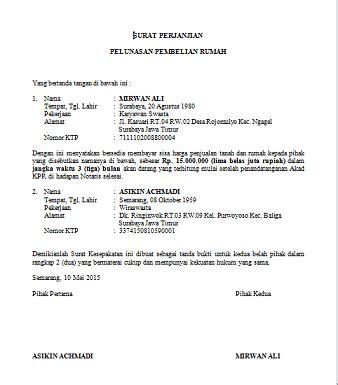 contoh surat pernyataan dengan saksi feed news indonesia