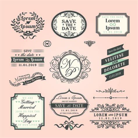 design label vector romantic wedding labels design vector vector label free