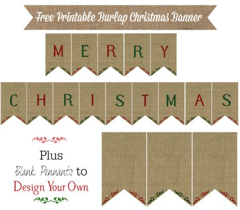 printable rustic banner burlap christmas banner printable 12 days of christmas