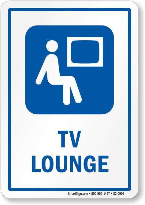 tv lounge sign man watching television symbol sku s2 0974
