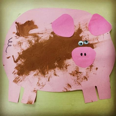 farm animal crafts for piggy with mud craft for preschoolers farm animals