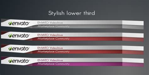 Stylish Lower Third By Pixelkingdom Videohive Lower Third Templates Photoshop