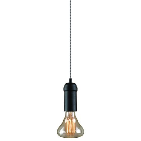hanging light not hardwired globe electric edison 1 light matte black plug in or