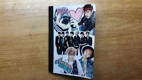 How To Decorate My Home For Cheap diy kpop notebook k pop amino