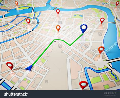 navigation city map and icons animation stock animation map gps icons navigation stock illustration