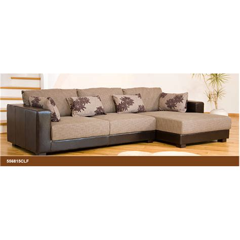 leather and cloth sectional sofas desert fabric and leather brown beige corner sofa