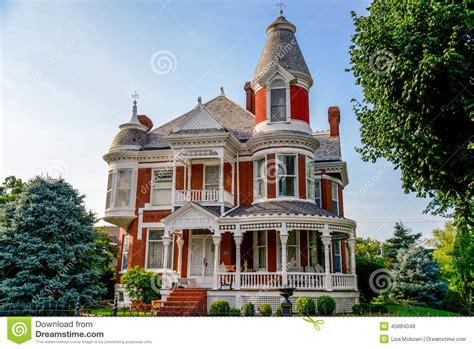 Concrete Homes Plans victorian brick bed and breakfast home stock photo image