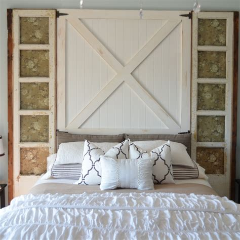 Diy Door Headboard by How To Build A Barn Door Headboard Diy Headboard Home