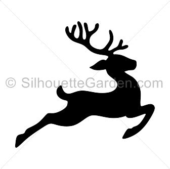 flying reindeer silhouette clip art