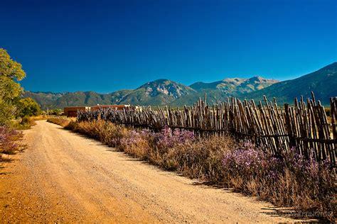 new mexican landscape coyote fence el prado new mexico