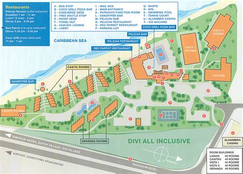 Disney Beach Club Floor Plan by Divi Aruba All Inclusive Beach Resort Map