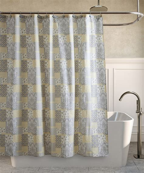 yellow gray shower curtain modern shower curtains