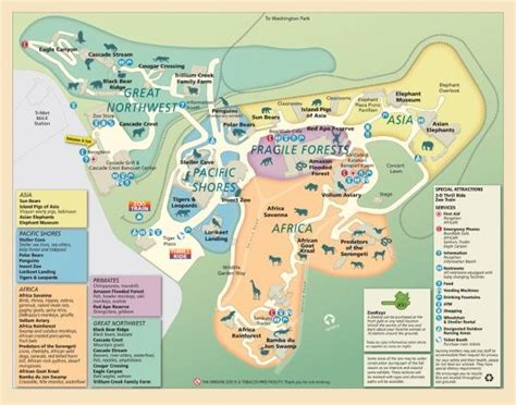 map of oregon zoo zoo map oregon zoo portland trip ideas