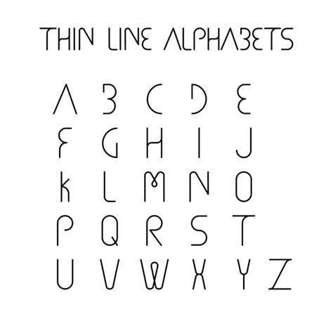 Letter Lines Thin Line Alphabet Design Vector Free