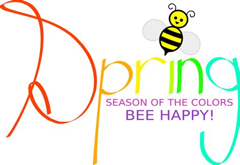 color of happy clipart spring season of the colors bee happy