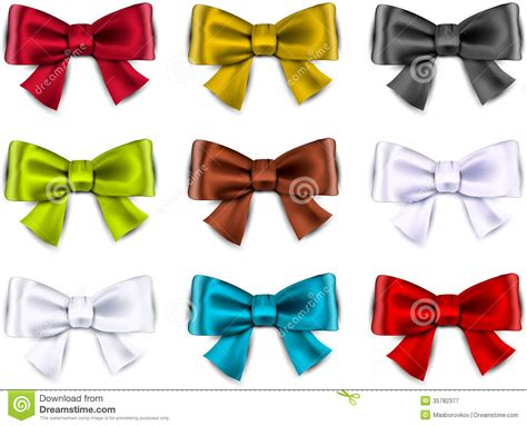 colorful bows satin color ribbons gift bows royalty free stock
