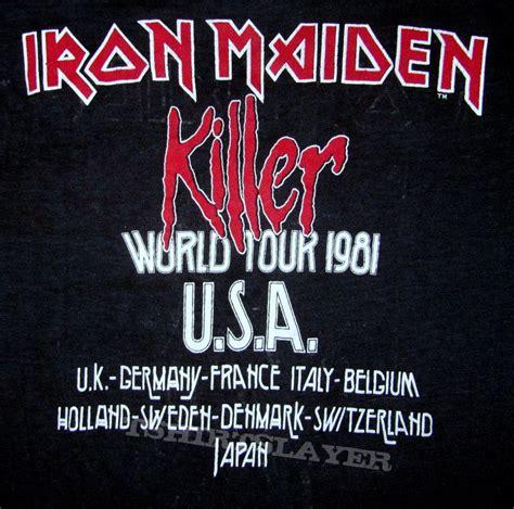 Iron Maiden European Tour Tees iron maiden killers world tour 1981 t shirt europe part 2