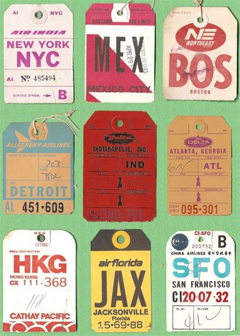 printable airline luggage tags vintage airline luggage tags www pixshark com images