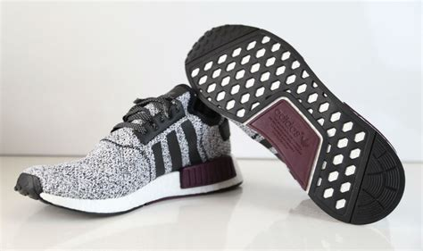 black and white patterned adidas trainers chs adidas nmd white black burgundy b39506 sole collector