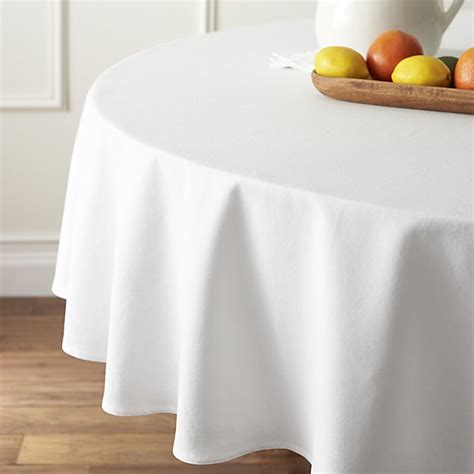 white table linens clearance abode white 90 quot tablecloth crate and barrel