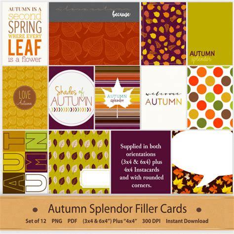 printable greeting card dividers autumn filler cards journaling pocket life scrapbooking