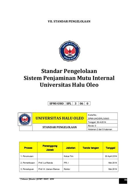 Pengendalian Dan Penjaminan Mutu By Ramly Usman dokumen standar