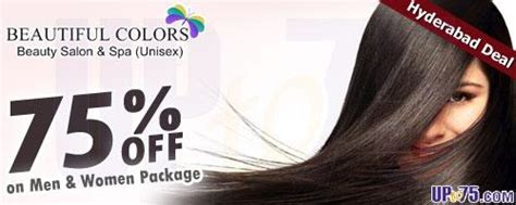 haircut coupons in hyderabad beautiful colors spa and salon lmadhapur hyderabad
