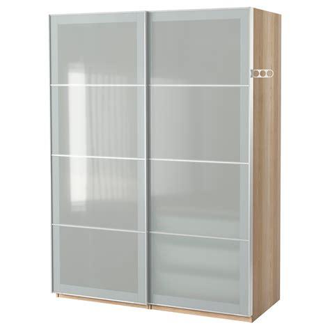 ikea glass wardrobe pax wardrobe white stained oak effect sekken frosted glass