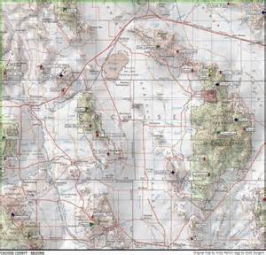 cochise county arizona map arizona peaks 1 000 of prominence and higher www