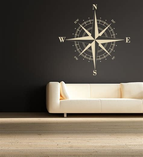 Nautical Compass Wall Nautical Decor Compass Nautical Vinyl Wall Decal Great By