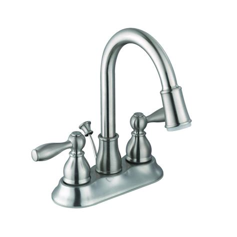 glacier bay bathtub faucets glacier bay mandouri 4 in centerset 2 handle led high arc