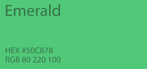 what color is emerald 24 shades of green color palette graf1x